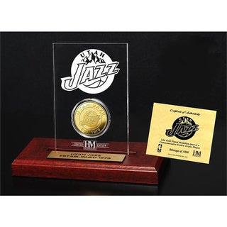 Utah Jazz 24k Gold Coin Etched Acrylic