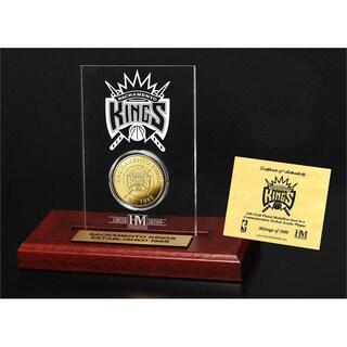 Sacramento Kings 24k Gold Coin Etched Acrylic