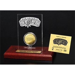 San Antonio Spurs 24k Gold Coin Etched Acrylic