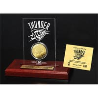 Oklahoma City Thunder 24k Gold Coin Etched Acrylic