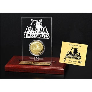 Minnesota Timberwolves 24k Gold Coin Etched Acrylic