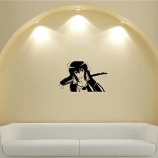 Japanese Manga Girl Cloak Saber Vinyl Wall Sticker