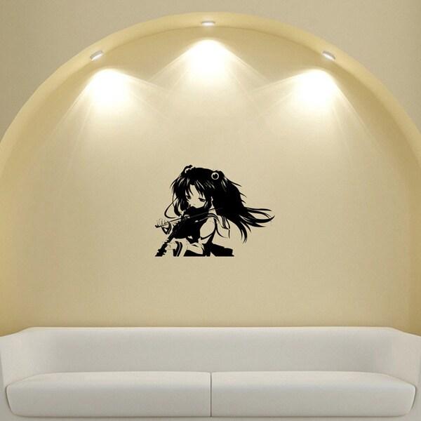 Japanese Manga Girl Music Violin Vinyl Wall Sticker