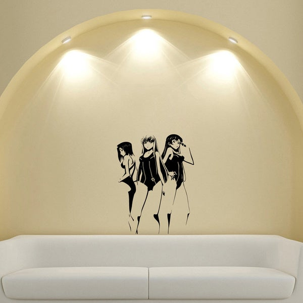 Japanese Manga Girls Resuers Swimwear Vinyl Wall Sticker