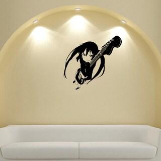 Japanese Manga Girl Guitar Vinyl Wall Sticker