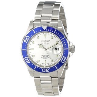 Invicta Men's 14123 'Pro Diver' Stainless Steel Blue Dial Watch