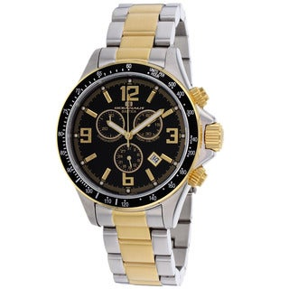 Oceanaut Men's Baltica Black/ Two-tone Gold Watch