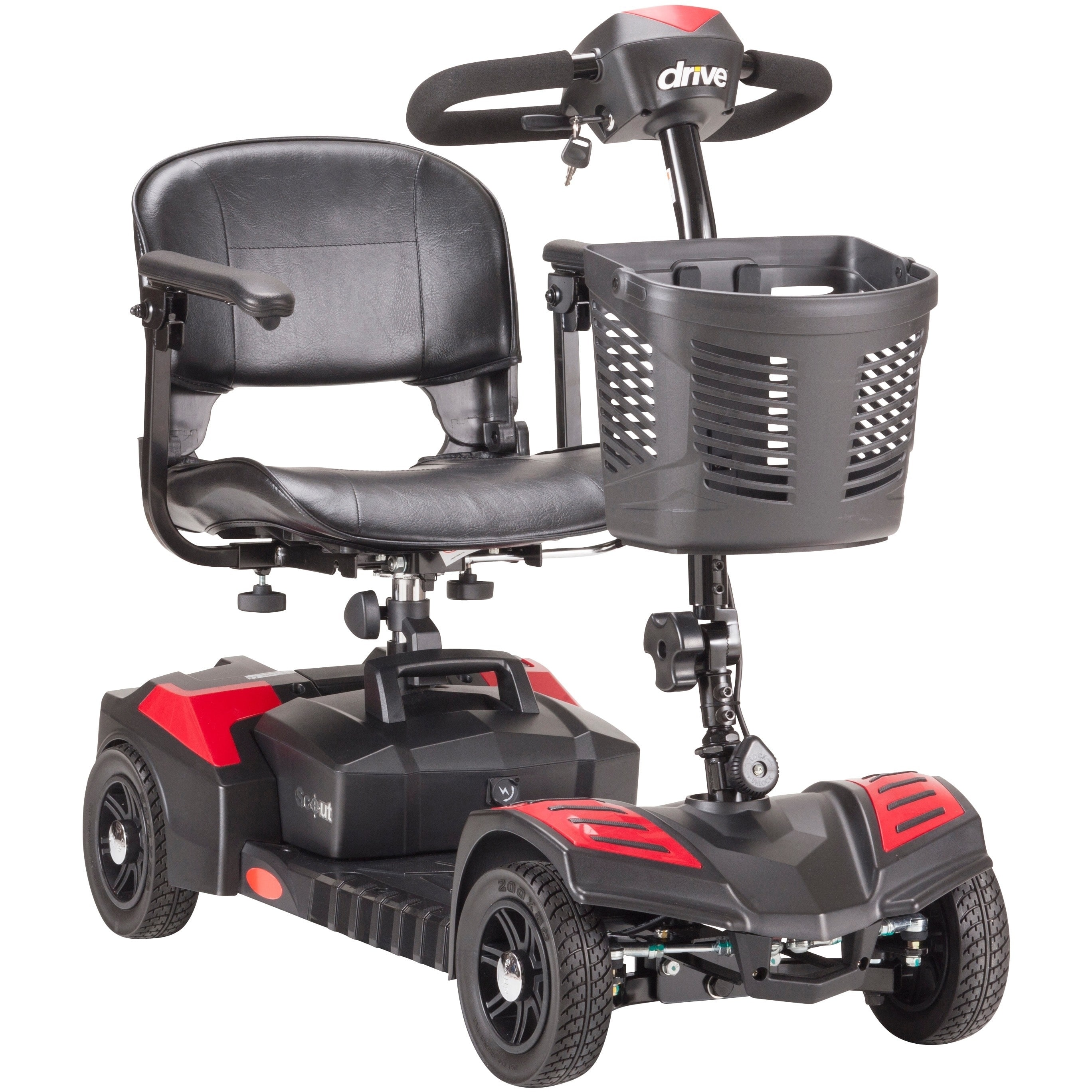Drive Medical Scout Compact 4-wheel Travel Power Scooter ...