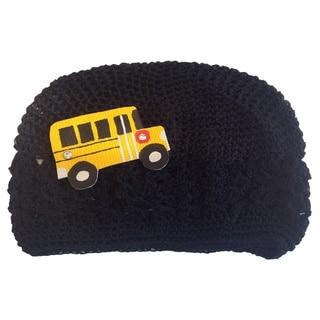 Mini e Boutique Leather Schoolbus Crocheted Hat