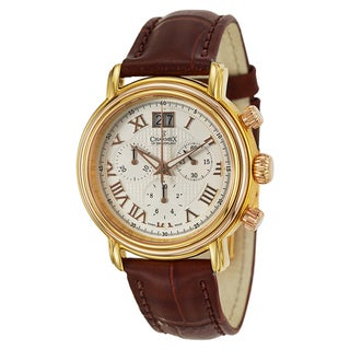 Charmex Men's 'Monaco' Rose Gold-Plated Stainless Steel Chronograph Watch