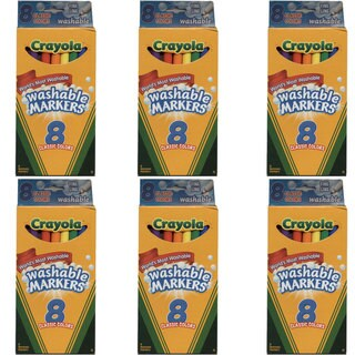 Crayola Fine Line Washable Markers 8-count Classic Colors (Pack of 6)
