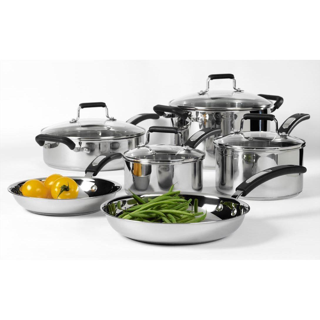 Denmark 10 Piece Stainless Steel Cookware Set