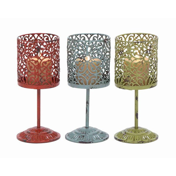 Beautiful Metal Candle (Set of 3)