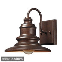 Gama sonic gs 122 brown wall mount solar barn light with 6 bright marina 1 light outdoor sconce mozeypictures Images