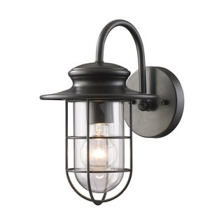 Portsde 1-light Matte Black Outdoor Sconce