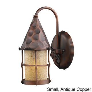 Rustica Antique Copper or Matte Black 1-light Outdoor Sconce (Copper - Large)