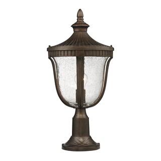 1-light Outdoor Weathered Rust Post Light