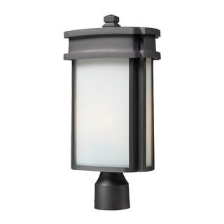 1-light Graphite Outdoor Post Light