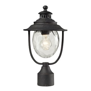 Searsport 1-light Weathered Charcoal Post Mount