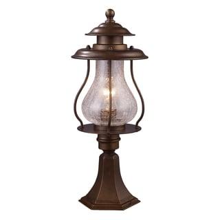 Wikshire 1-light Coffee Bronze Outdoor Post Mount