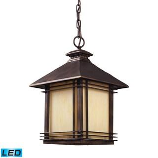 1-light Hazelnut Bronze Outdoor Pendant
