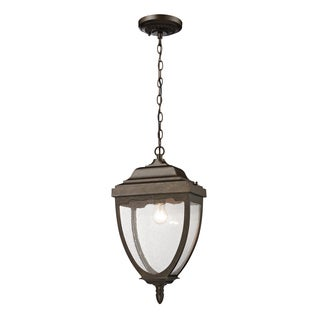 1-light Weathered Rust Outdoor Pendant