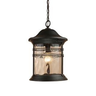 Madison 1-light Matte Black Outdoor Pendant