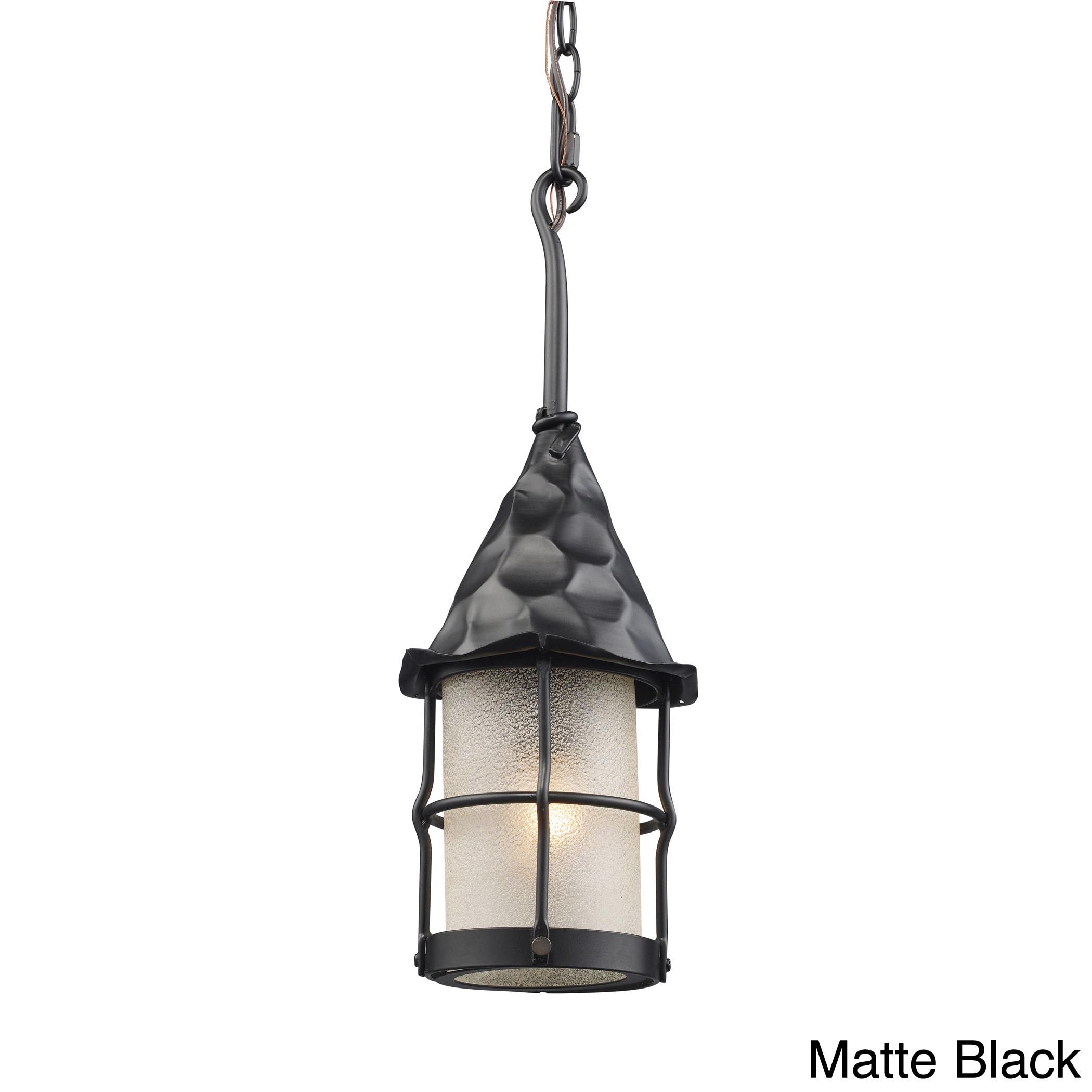 Elk Lighting Rustica 1-Light Outdoor Pendant (Matte Black...