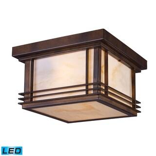 Blackwell 2-light LED Hazelnut Bronze Outdoor Flush Mount Fixture