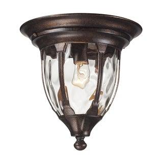 Glendale 1-light Regal Bronze Outdoor Flush Mount Lighting Fixture