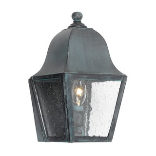'Belmont' Charcoal Solid Brass Transitional 1-light Outdoor Lantern