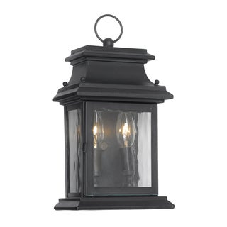 'Provincial' Charcoal Finish Transitional 2-light Outdoor Lantern