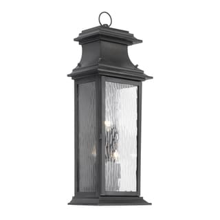 Provincial 3-light Charcoal Finish Transitional Outdoor Lantern