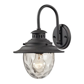 'Searsport' Weathered Charcoal 1-light Aluminum Outdoor Sconce
