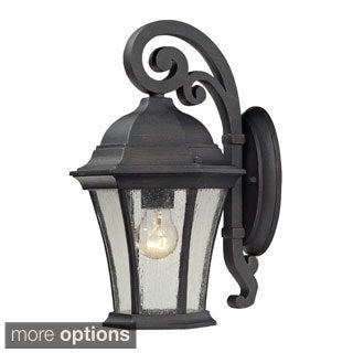 'Wellington Park' Weathered Charcoal 1-light Outdoor Sconce