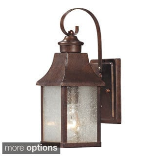 'Town Square' Hazelnut Bronze Transitional 1-light Outdoor Sconce