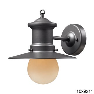 1-light Graphite Outdoor Sconce