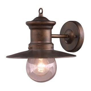1-light Hazelnut Bronze/ Seeded Glass Wall Bracket