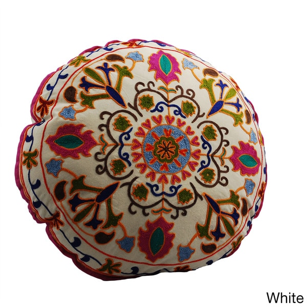 Shop Medallion Design Round Floor Pillow India Free