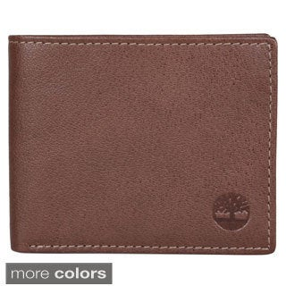 Timberland Men's Genuine Leather Bifold Slim Wallet with One ID Window