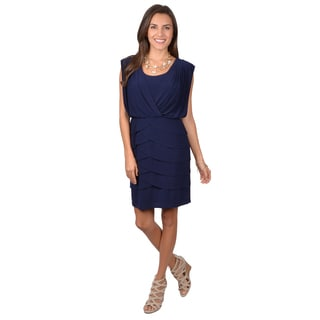 Jessica Howard Women's Cap Sleeve Ruffle Dress