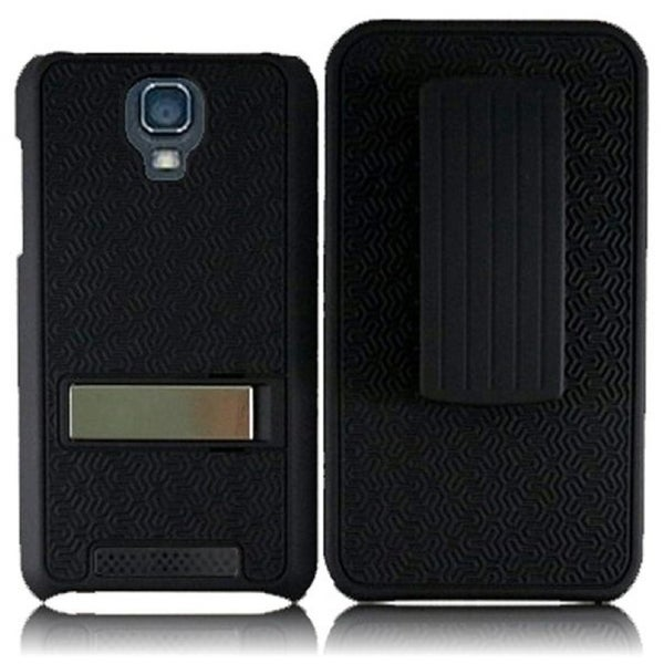 INSTEN Black Phone Case Cover with Belt Clip for ZTE Engage V8000