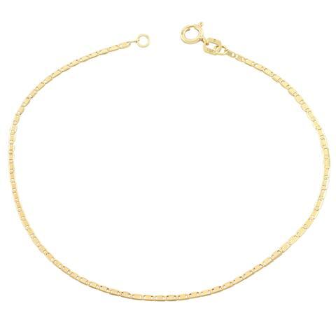 Fremada 10k Yellow Gold Petite Valentino Chain Bracelet (7.5 inch)