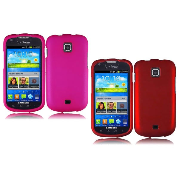 INSTEN Premium Pink Rubberized Matte Hard Plastic PC Snap-on Phone Case Cover for Samsung Galaxy Stellar 4G