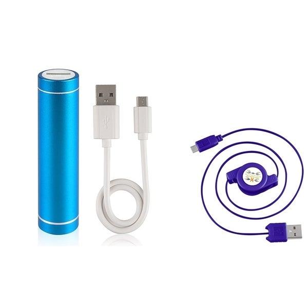 INSTEN Lipstick Powerbank/ Retractable Micro USB