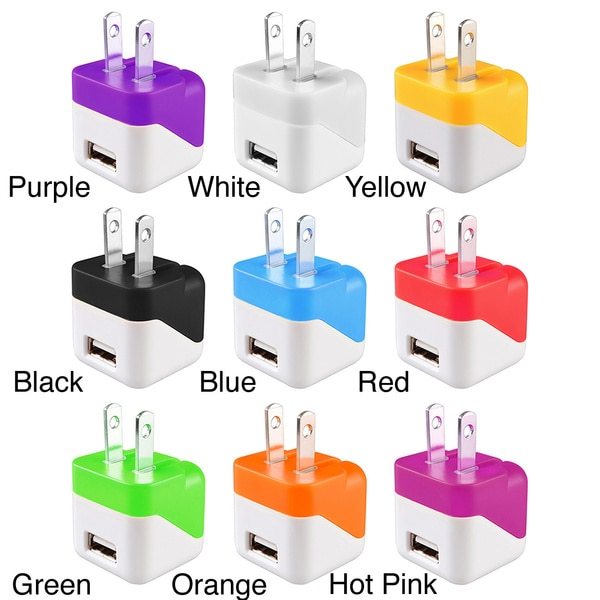 Insten Mini USB Travel Charger with Micro USB Cable Cord