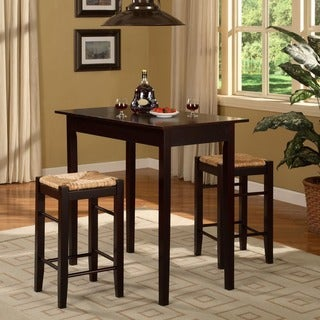 Linon Watering Hole 3 Piece Dinette Set in Espresso