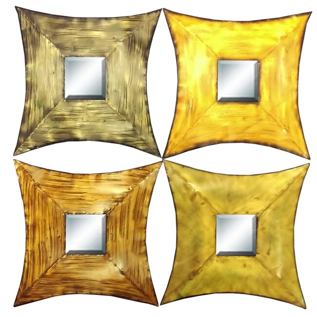 Shop Metal Mirrors Set Of Four Free Shipping On Orders