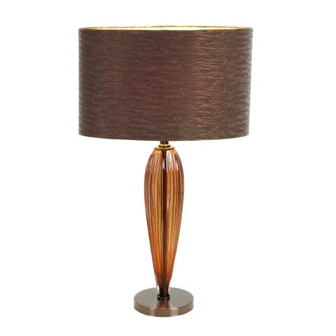 Glass Metal Table Lamp