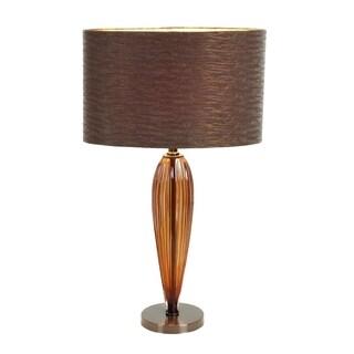 Glass Metal Table Lamp